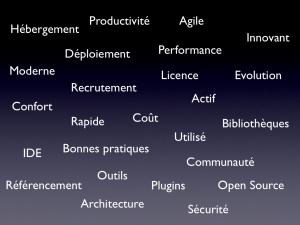 liste des critères permettant de juger de la qualité d'un framework web