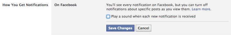 Notifications sonores Facebook