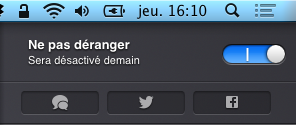 Centre de notification Mac OS