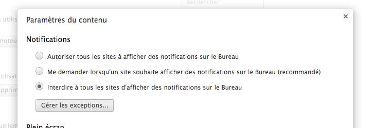 Comment désactiver les notifications Chrome sur le bureau