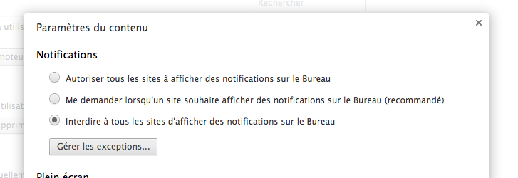 Comment désactiver les notifications Chrome sur le bureau