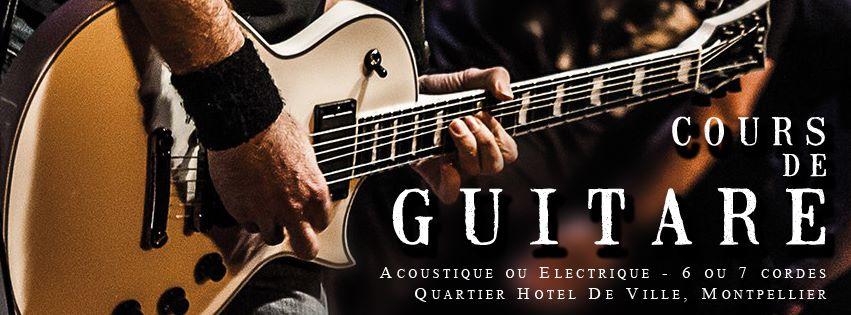 Cours de guitare électrique à Montpellier