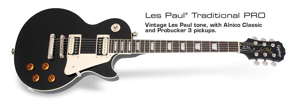 Epiphone Les Paul Traditional PRO Noire